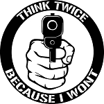 Think Twice Sticker
